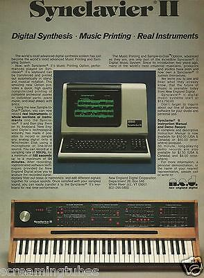 1982 SYNCLAVIER II DIGITAL SYNTHESIS SYSTEM SYNTHESIZER PRINT AD