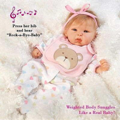 19 inch Realistic & Lifelike Baby Doll, Happy Teddy, Baby Soft GentleTouch Vinyl
