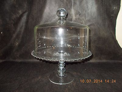 Imperial Candlewick Cake Stand ( 3 Ball Stem ) with Dome Cover