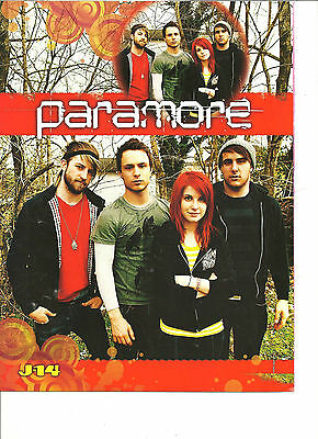 Paramore, Shaleine Woodley, Daren Kagasoff, Double Sided Full Page Pinup