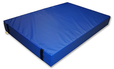 Implay® Gymnastics 610gsm PVC Foam Blue Gym Landing Crash Mat - 180 x 120 x 10cm