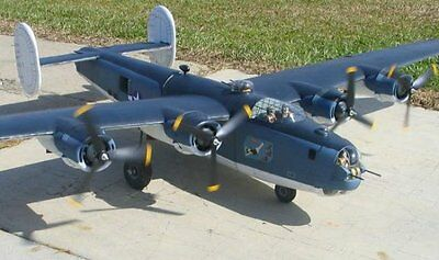 """B-24  Liberator 110""""  Giant Scale RC Model AIrplane Printed Plans"""