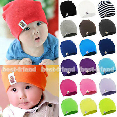 Boy Girls Child Newborn Baby Infant Toddler Kids Cotton Cute Hat Beanie Cap New