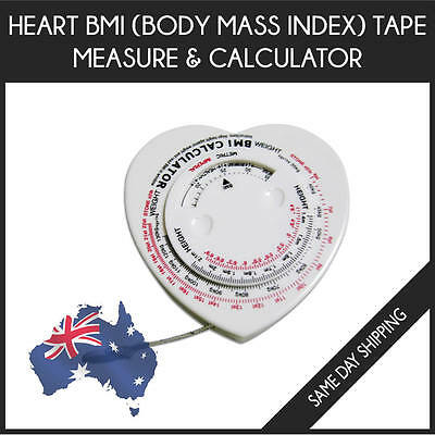 Heart BMI Body Mass Index Tape Measure & Calculator -Slim Muscle Fit Weight loss