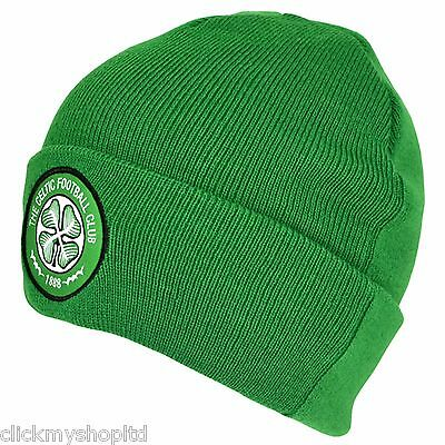 Celtic F.C Green Cuff Knitted Hat