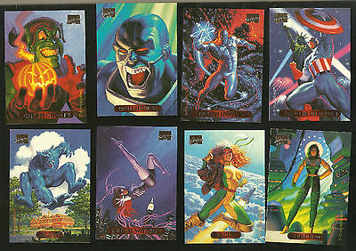 1994 MARVEL MASTERPIECES COMPLETE SET (140) NM/M  + SILVER HOLOFOIL HULK