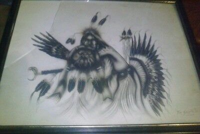Comanche war drawing by Tim Saupitty