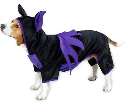 Cute Bat Dog Costume - Halloween - Purple/Black - Casual Canine - XS S M - NWT