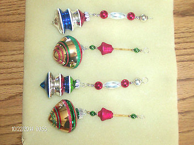 Mercury Glass Icicle Ornaments from Vintage, Radko,Czech Beads from Garlands