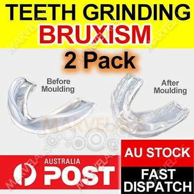2 x NIGHT GUARD Teeth Grinding Custom Dental Mouthguard Stop Grind Tooth Sleep