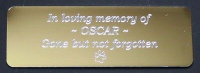 Personalised Name Plate Engraved Name Plate Engraved Trophy Plate