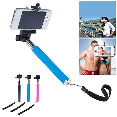 Extendable Handheld Selfie Monopod Mount For Camera iPhone LG Sony HTC Nokia
