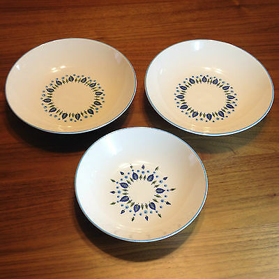 "Marcrest Swiss Alpine Serving Bowls - Two HTF 10"" & One 9"" - Three Total - VTG"