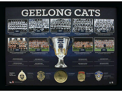 Afl Geelong Cats Premiership History Print Listed Brownlow Medal Premiers Years