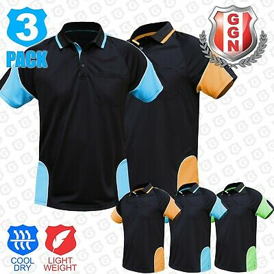 3x HI VIS POLO SHIRT (HIVIS ARM PIPING PANEL)WORK WEAR COOL DRY,SHORT SLEEVE
