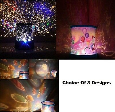 Kids Bedroom Bedside Amazing Star Night Light Girls Led Projector Mood Lamp New