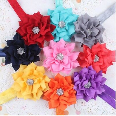 10pcs Cute Girl's Baby Infant Toddler Flower Headband Hair Bow Band Accessories
