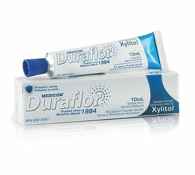 Medicom Duraflor 5% Sodium Fluoride Varnish - Bubble Gum - 10ml Tube 10011-US