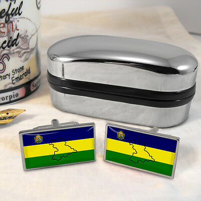 Anzoátegui Flag Cufflinks & Box