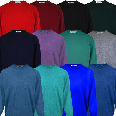 2017 PROQUIP Water Repellent Mens Crew-Neck Lambswool Sweater Jumper Golf
