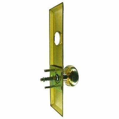 "Mortise Lock Escutcheon Plate 2-3/4"" X 10"" with Brass Door Knob & Cylinder Hole"