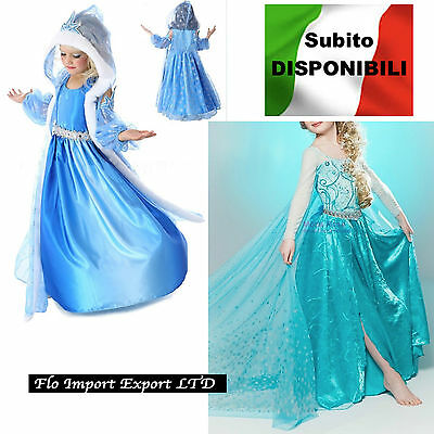 Frozen - Vestiti Carnevale Elsa 2-12 Y anni - Dress up Elsa Costumes 789007BE-11