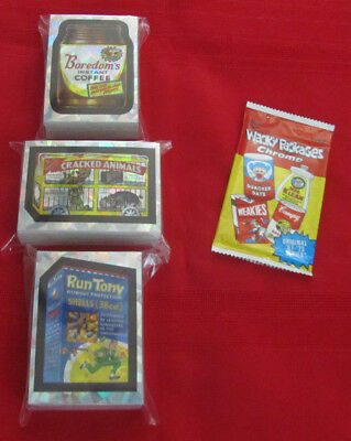 2014 Wacky Packages Chrome Series 1 Atomic Refractor Set 110 Total    Nm/Mt