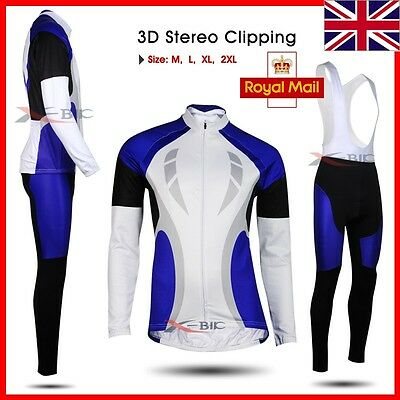 NEW Winter fleece Thermal long sleeve bike bicycle Cycling jersey pants set wear