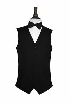 Men's Lloyd Attree & Smith Plain Black Polyester Waistcoat
