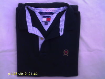 YOUTH xl forest green tommy hilfiger short sleeve school wear uniform shirt
