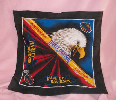 """HARLEY DAVIDSON  BANDANA OR SCARF """" AMERICAN LEGEND""""  MADE IN USA OFFICIAL PROD."""