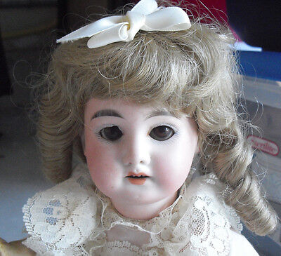 """Antique A&M 1894 DEP Germany Bisque Composition Girl Doll 13"""" Tall"""