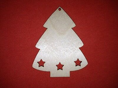 10 x PEARS SHAPES plain UNPAINTED WOODEN CHRISTMAS TREE HANGING  GIFT DECOR TAG
