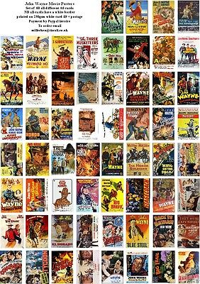 John Wayne Movie Posters  -60 All Different A6 Artcards