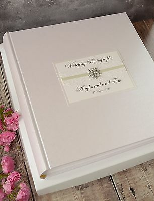 Wedding Photograph Album. Large Personalised Photo Album. 50 pages / 100 sides.