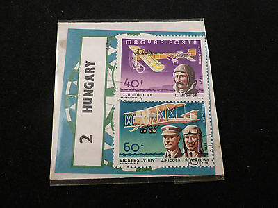 Original Vintage Set of 2 Hungarian (Magyar Posta) Pilots
