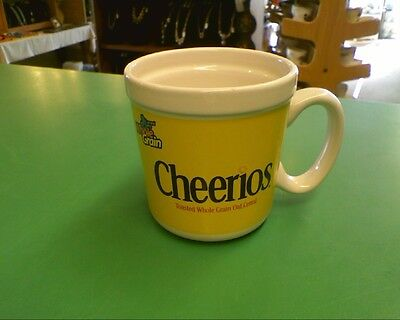 Collectible Cheerios General Mills Cereal Mug Cup Yellow & White
