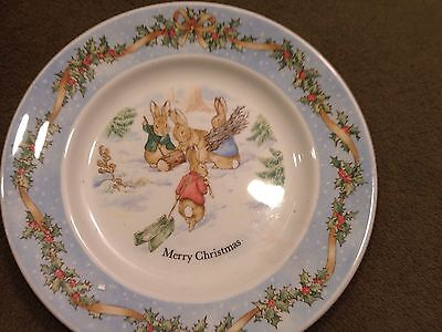 Peter Rabbit Wedgewood Christmas Holiday Porcelain Plate