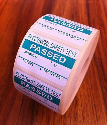PAT Testing Labels x 100 PASSED *FREE P+P*