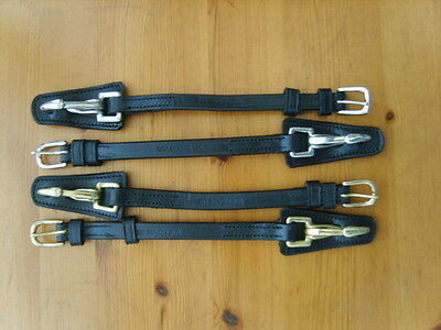 *NEW STOCK Pair of Leather Cheek Pieces with Clips. X-Full, Full, Cob & Pony