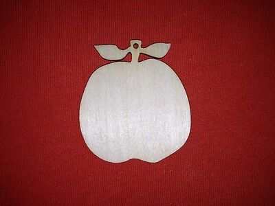 10 x APPLE SHAPES plain UNPAINTED WOODEN CHRISTMAS HANGING  EMBELLISHMENT TAG