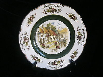 """ASCOT SERVICE PLATE BY WOOD AND SONS  - ALPINE WHITE IRONSTONE-  PLATE  10.5"""" D"""