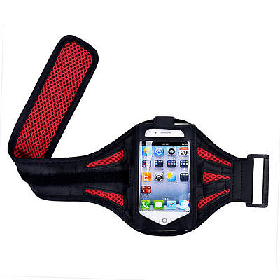"""iPhone 6 4.7"""" Red Mesh Running, Jogging, Cycling Armband Mobile Phone Cover Case"""