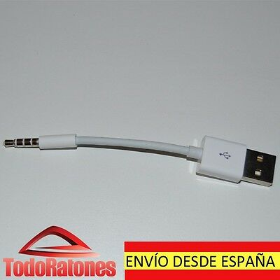Cable USB para Apple iPod Shuffle 3 4 5 y 6 Generación Cargador Sincroniza Datos