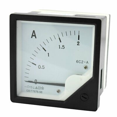 6C2 DC 0-2A Measure Tool Panel Analog Ammeter Amperemeter Class 1.5