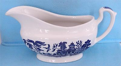 Churchill England Blue Willow Gravy Boat EXCELLENT Condition!!