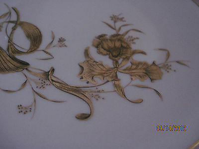 H & G Heinrich China Selb Bavaria Germany Golden Orchid with gold trim, Salad  b