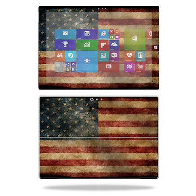 Skin Decal Wrap for Microsoft Surface Pro 3 Tablet sticker Vintage Flag