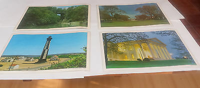 Set of 4 vintage placemats. Travel placements with scenes in Virginia. Colorful