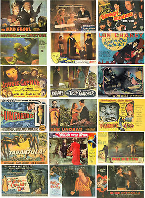 Horror Film Lobby Cards-60 All Different A6 Artcards